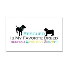 Rescued Is Favorite Breed Car Magnet 20 x 12
