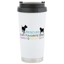 Rescued Is Favorite Breed Travel Mug