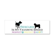 Rescued Is Favorite Breed Car Magnet 10 x 3