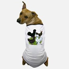 Four Crested Chickens Dog T-Shirt