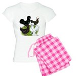 Four Crested Chickens Women's Light Pajamas