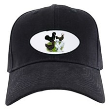 Four Crested Chickens Baseball Cap