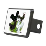 Four Crested Chickens Rectangular Hitch Cover
