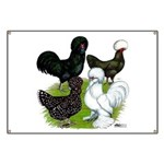Four Crested Chickens Banner