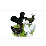 Four Crested Chickens Postcards (Package of 8)