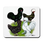 Four Crested Chickens Mousepad