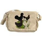 Four Crested Chickens Messenger Bag