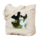 Four Crested Chickens Tote Bag