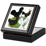 Four Crested Chickens Keepsake Box