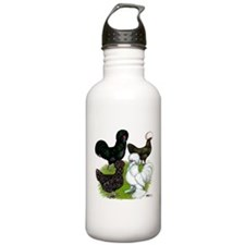 Four Crested Chickens Water Bottle