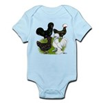 Four Crested Chickens Infant Bodysuit
