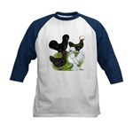 Four Crested Chickens Kids Baseball Jersey