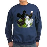 Four Crested Chickens Sweatshirt (dark)