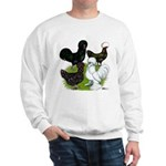 Four Crested Chickens Sweatshirt