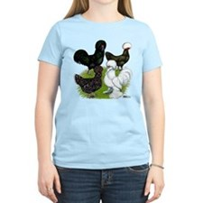 Four Crested Chickens T-Shirt