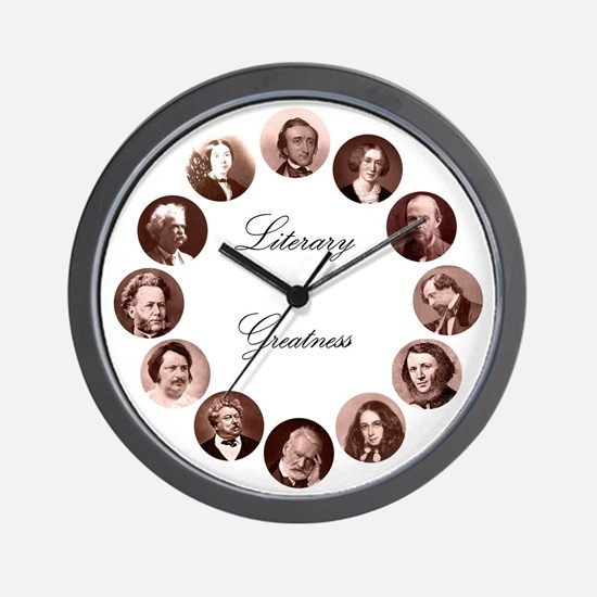 Literary Greatness Wall Clock