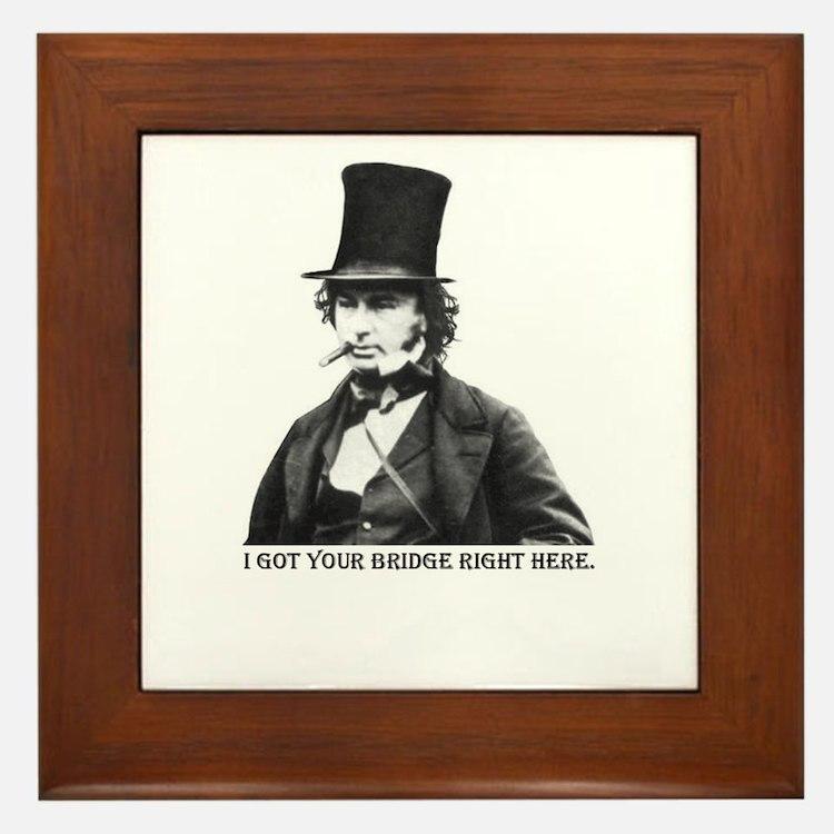 Isambard Kingdom Brunel Framed Tile