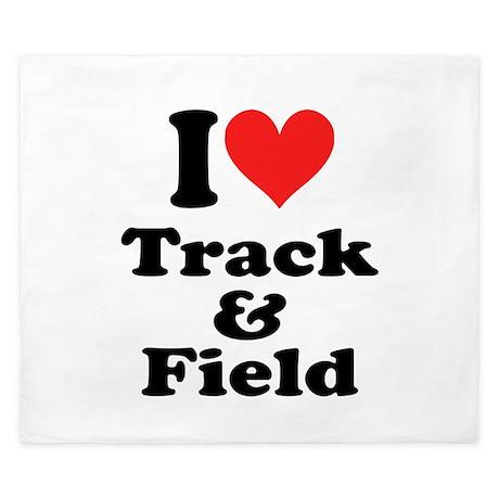 I Heart Track Field: King Duvet