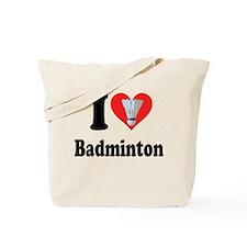 I Heart Badminton: Tote Bag