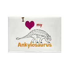 Ankylosaurus Rectangle Magnet