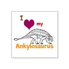 "Ankylosaurus Square Sticker 3"" x 3"""