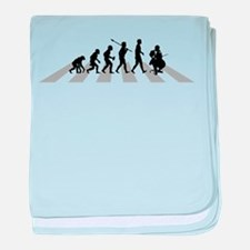Cello Player baby blanket