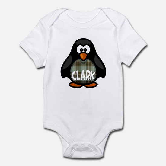 Clark Tartan Penguin Infant Bodysuit