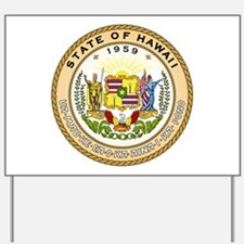 Hawaii State Seal Yard Sign