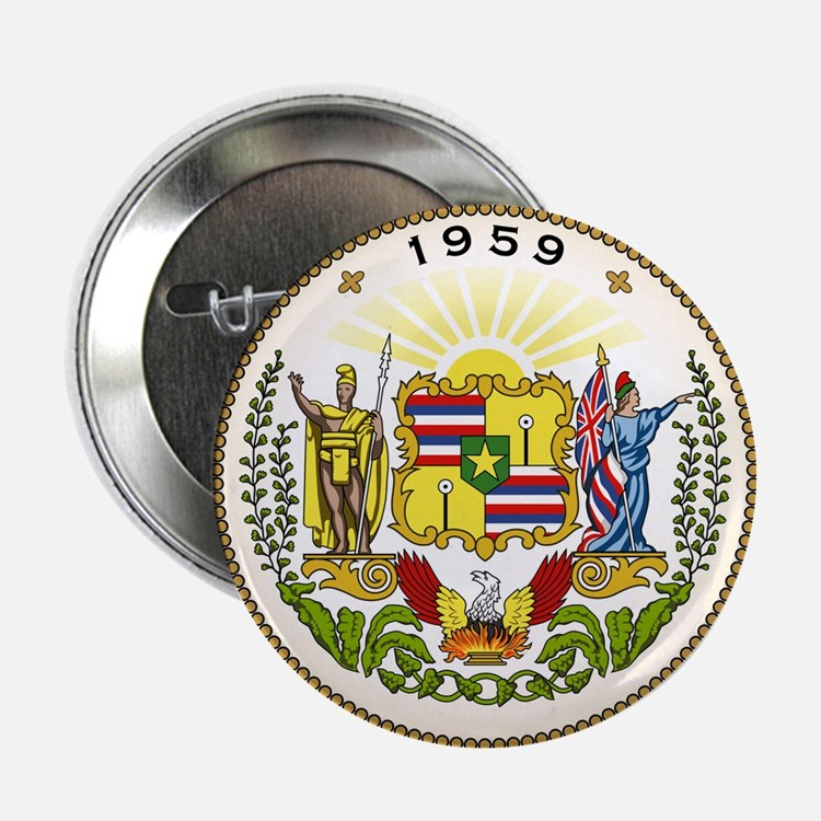 "Hawaii State Seal 2.25"" Button (100 pack)"
