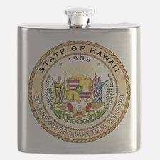 Hawaii State Seal Flask