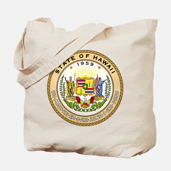 Hawaii State Seal Tote Bag