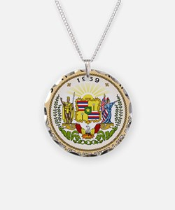 Hawaii State Seal Necklace