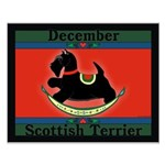 Scottish Terrier Rocking Dog Small Poster