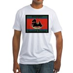 Scottish Terrier Rocking Dog Fitted T-Shirt