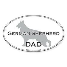 German Shepherd DAD Oval Decal