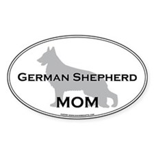 German Shepherd MOM Oval Decal