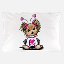 Yorkie Luv Bug Pillow Case