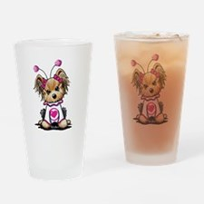 Yorkie Luv Bug Drinking Glass