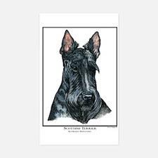Scottish Terrier Open Edition Sticker (Rectangular