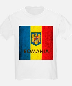 Romania Grunge Flag T-Shirt