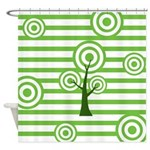 Funky Tree Design Shower Curtain