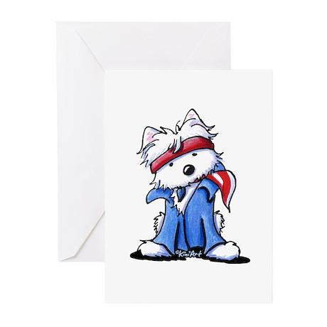 Westie Boss Greeting Cards (Pk of 10)