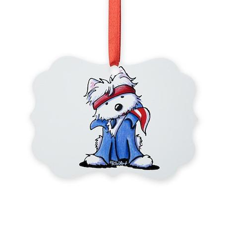Westie Boss Picture Ornament