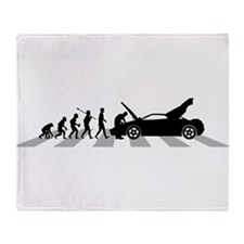 Car Mechanic Throw Blanket