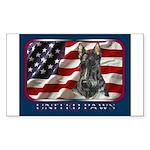 Scotty Dog United Paws Rectangle Sticker