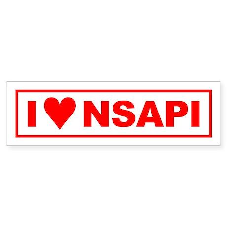 NSAPI Bumper Sticker