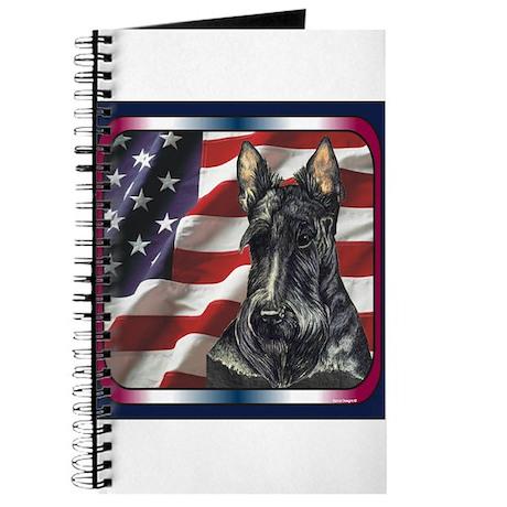 Scottish Terrier US Flag Journal