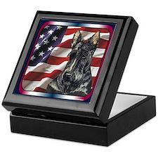 Scottish Terrier US Flag Keepsake Box