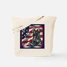 Scottish Terrier US Flag Tote Bag