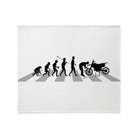 Dirt Bike Mechanic Throw Blanket